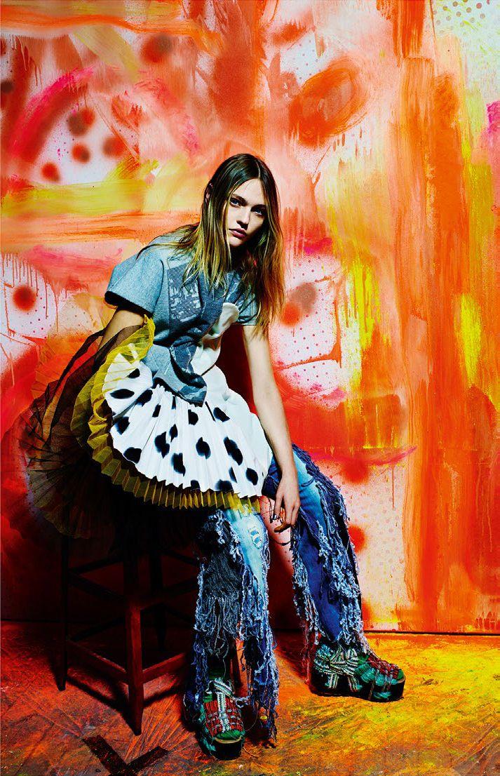 visual optimism; fashion editorials, shows, campaigns & more!: a stylish excess: sasha pivovarova by mario sorrenti for vogue italia february 2015