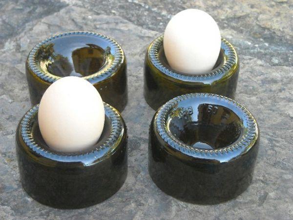 Bastelideen für DIY Projekte aus Weinflaschen eierhalter