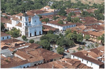 Vista aérea de Santa Fe de Antioquia, Colombia