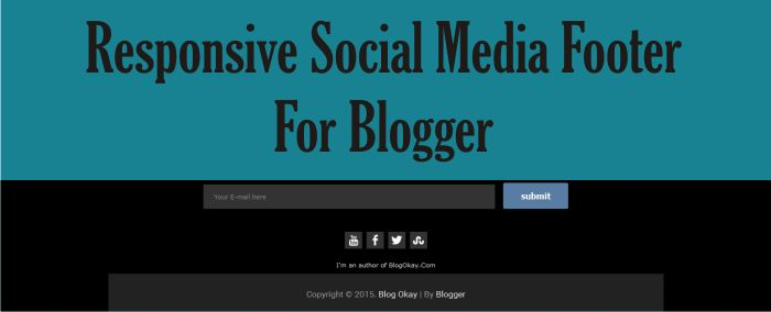 Responsive Social Media Footer For Blogger Like A Pro