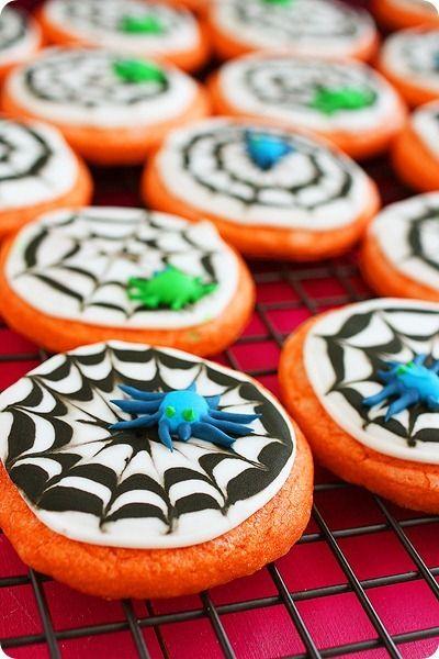 Spooky Spiderweb Cookies