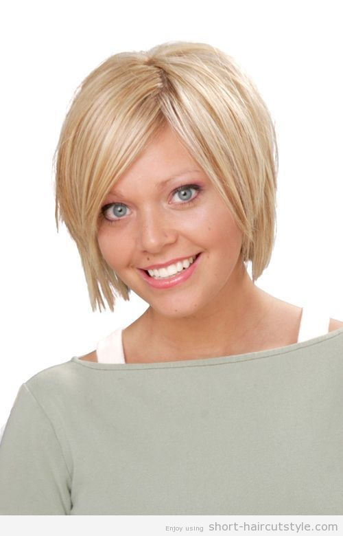 cool Best Haircuts for Fuller Faces | short hairstyles for fat faces with bangs 2014 ...