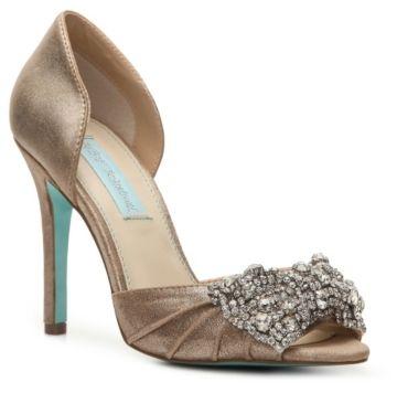 Betsey Johnson Gown Metallic Pump on shopstyle.com