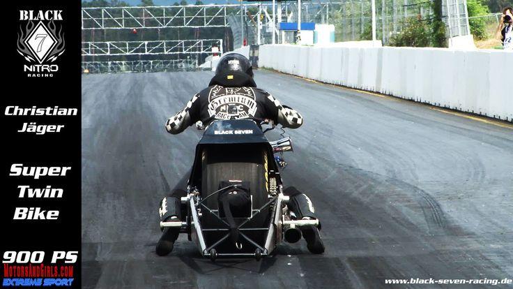 Super Twin Top Fuel Bike - Black Seven Racing - Christian Jäger - Public Race Days 2013