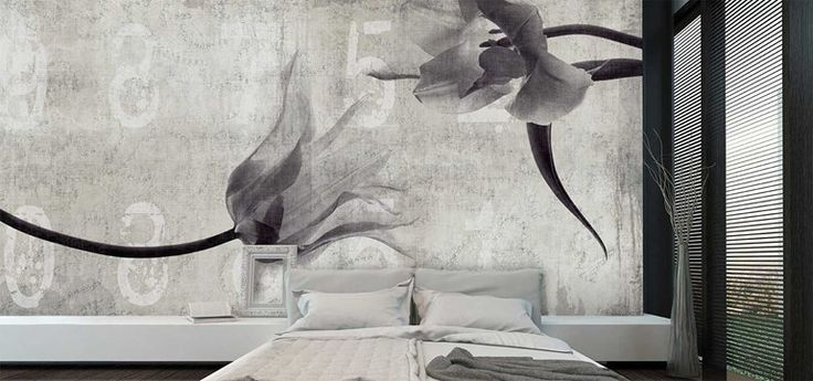 Panoramic wallpaper FLOWER IN LOVE Collection Canvas by N.O.W. Edizioni Join our newsletter @ www.now-edizioni.com