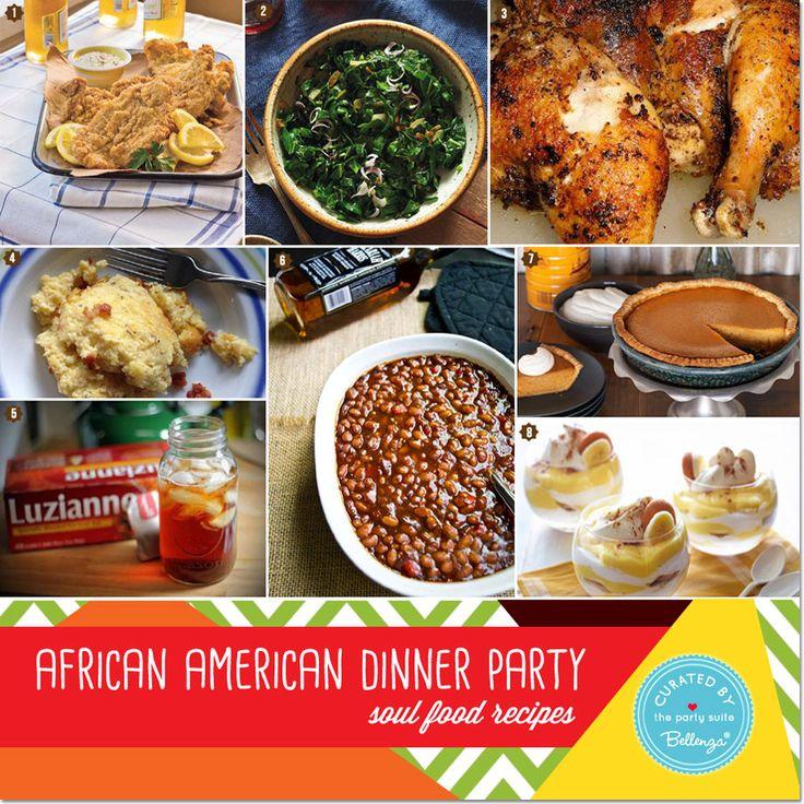 Comfort Food Wedding Menu: African American Heritage Dinner Party: Decor And Menu