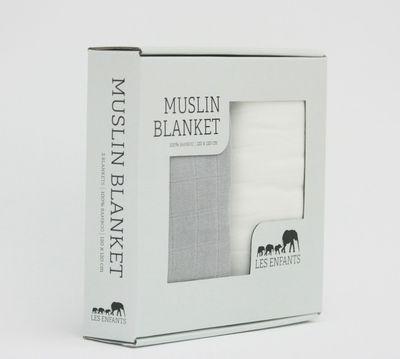 Les Enfants, Muslin blanket 2pk, grå/hvit, 399,-