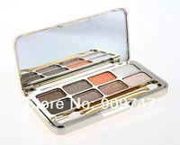 mejor caja de oro de venta 8 colores brillo luminosa paleta de sombra de ojos paleta de maquillaje profesional establece el envío libre