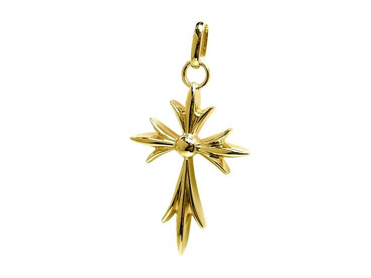 K18 yellow gold cross pendant charm イエローゴールド クロス ペンダント チャーム gothic design ゴシック デザイン #fashion #accessories #accessory #jewelry #gold  #ファッション #アクセサリー #ジュエリー #ゴールド