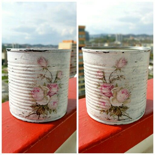 Decoupage vintage can