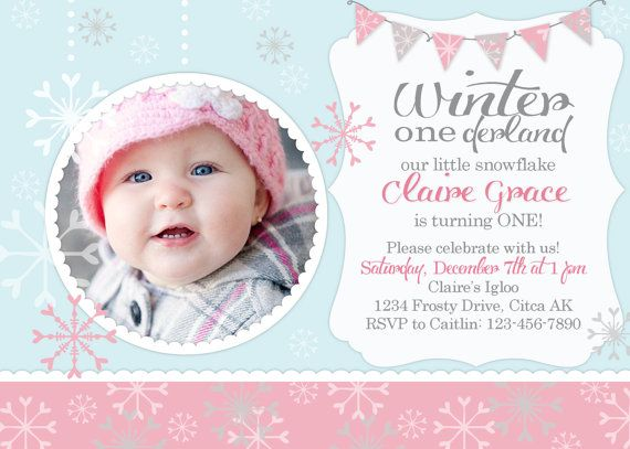 winter onederland snowflake birthday party by rachellesprintables - Winter Onederland Party Invitations