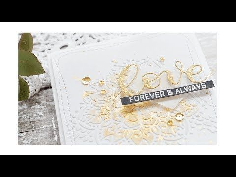 Doodling with Debby Stencil + Embossing Paste Wedding Card - Simon Says Stamp Blog