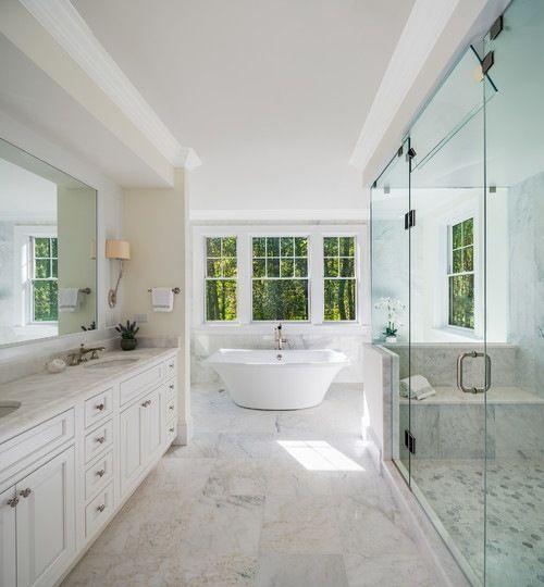 Sefa Stone Auf Instagram Grosse Traditionelle Badezimmeridee In Washington Dc Mit Freistehen Badezimmereinrichtung Badezimmerideen Freistehende Badewanne