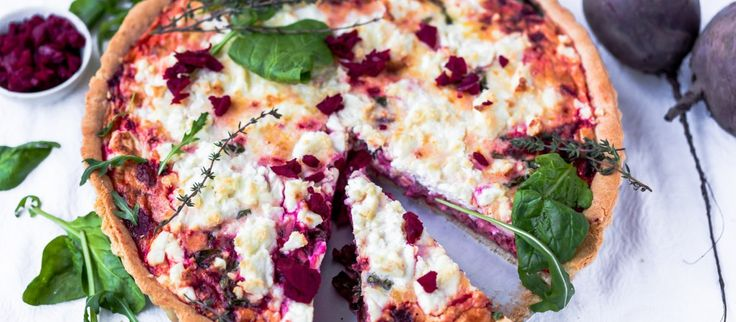 Thermomix Beetroot Feta Tart