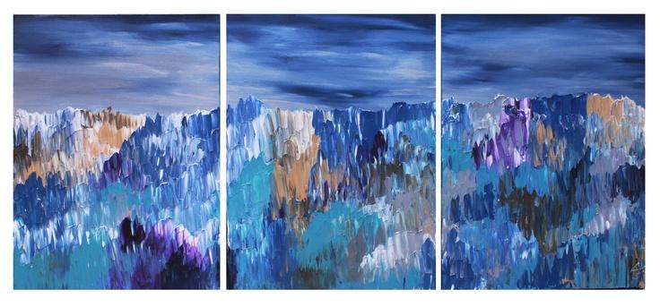"Untitled 102, 3-18""x20""  Acrylic on Canvas"