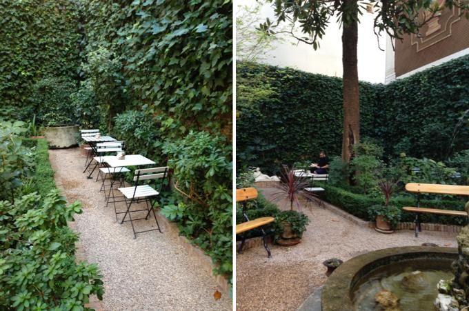 Café del jardín. Una joya escondida en el centro de Madrid. Terraza cafe del jardin def. Calle San Mateo (Chueca)