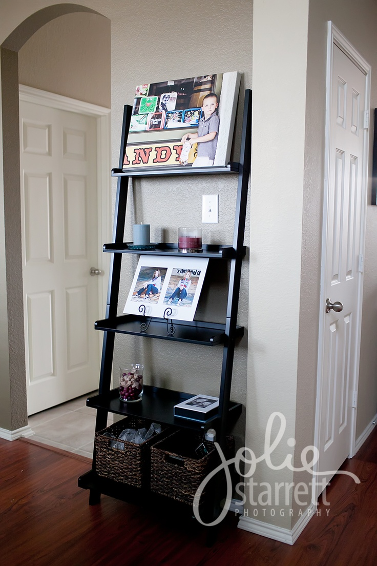 22 best images about ladder bookshelf staging on for Bookshelf display ideas