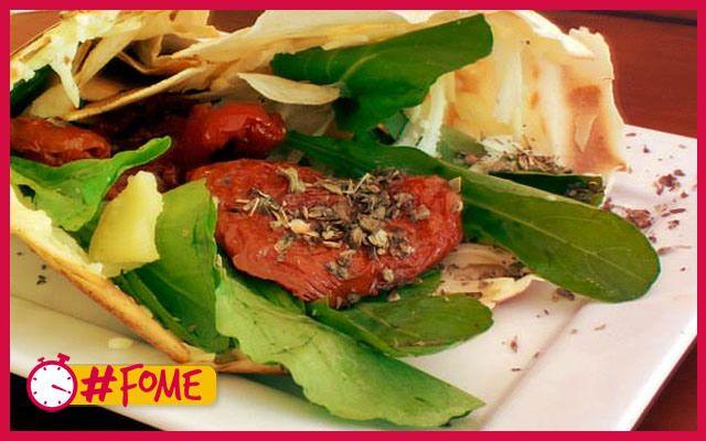 Crépioca de Rúcula com Tomates - #fomesaudavel - Minuto da Fome