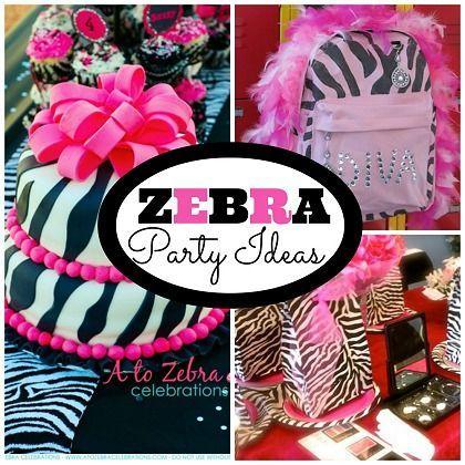 #Zebra Pattern Party Ideas