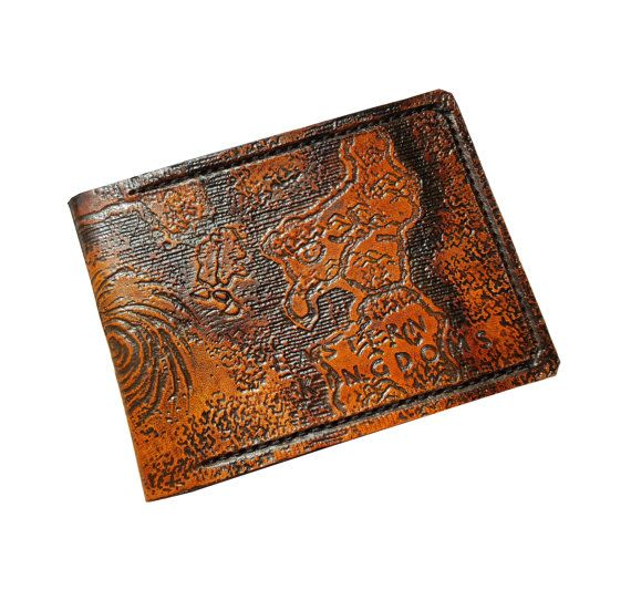 World of Warcraft Azeroth Map, Leather Wallet,