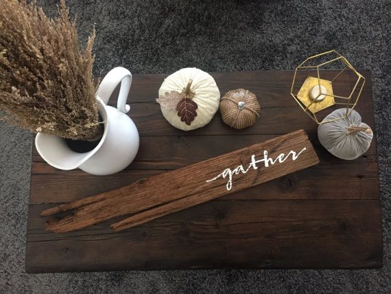 Gather sign || Rustic || Reclaimed || Holiday sign || Home Decor