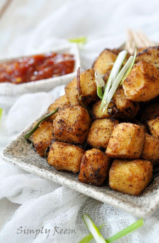 Crispy Salt and Pepper Tofu (replace cornflour with rice flour to make it gluten free)