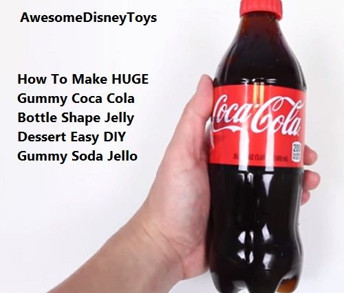 AwesomeDisneyToys How To Make HUGE Gummy Coca Cola Bottle Shape Jelly Dessert Easy DIY Gummy Soda Jello. Yummyyyy...