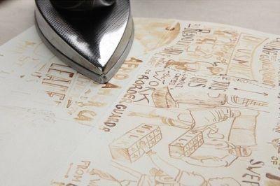 Если на листе бумаги написать или нарисовать что-нибудь молоком, а потом через 30 минут прогладить просохшую бумагу утюгом, то невидимое до этого изображение проявится.Снова среди искусства появилось нечто необычное нашему взору. Рисовать с помощью молока, разве кто-то бы вчера еще мог подумать об этом. Опять же удивительная идея использования продукта в рисовании. И совсем неважно, что вы нарисуете. Будет ли это обычным изображением или целой историей, главное, какой итог этого…