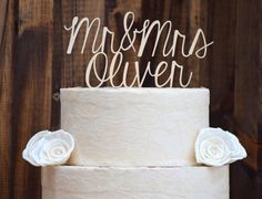 """These gorgeous cake toppers make for the most lovely addition to your wedding. We make all our cake toppers from 1/4"""" wood, that is the sturdiest and strongest you can get. They will have a completely"""