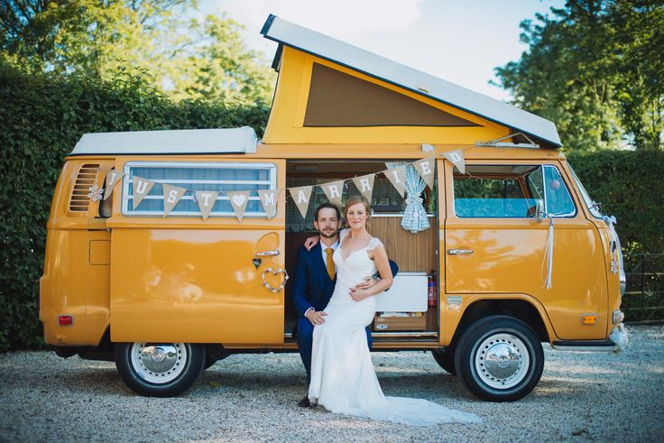 Wedding campervan - perfect for your ride or as a photobooth! #retro #rustic #ski #campervan #wedding www.snowtrippin.co.uk