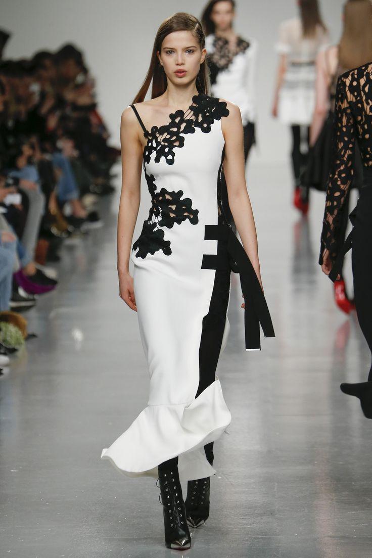 David Koma Fall 2017 Ready-to-Wear Collection Photos - Vogue (Lace Insert Dress)