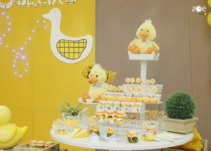 Yellow Duck Baby Shower Ideas