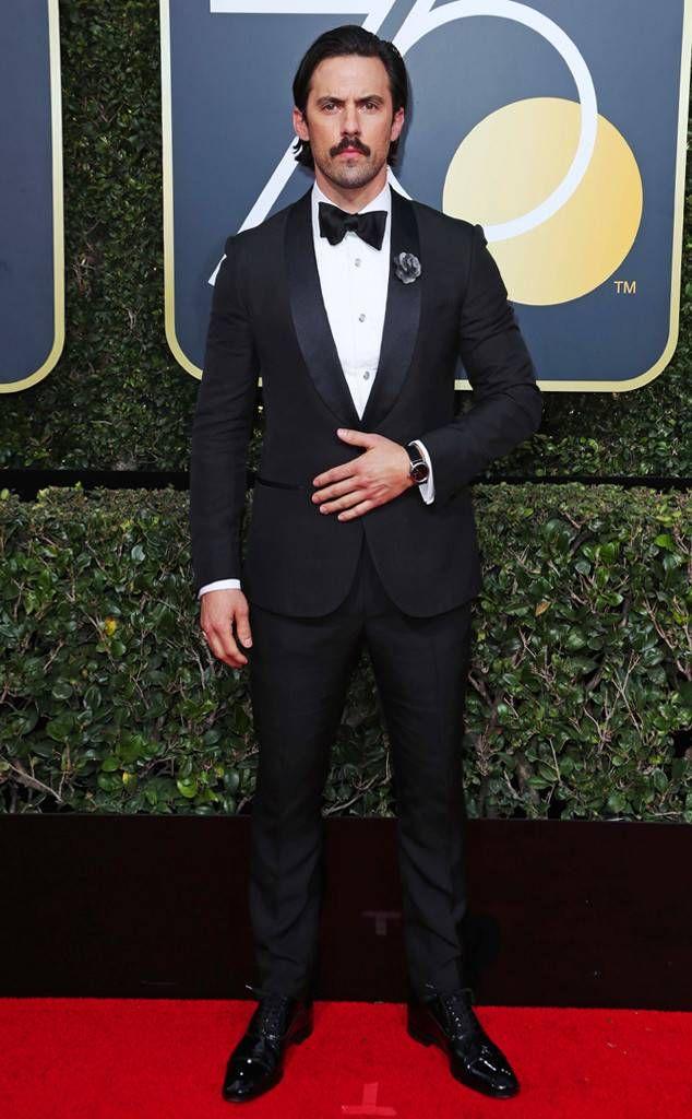 Milo Ventimiglia: 2018 Golden Globes Red Carpet Fashion