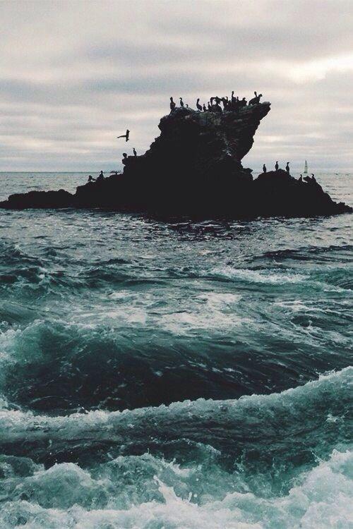 #sea #people #rocks