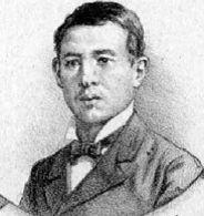"""Víctor Almarza (1861-1880). Subteniente del Regimiento 4° de Línea, murió como resultado de las heridas recibidas en la Batalla de Chorrillos. Fuente: """"El Álbum de la Gloria de Chile"""" de B. V. Mackenna."""