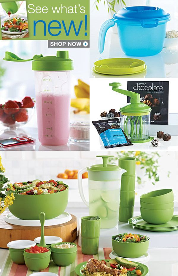 NEW Tupperware Spring Catalog is Available Online!  Click the picture to see what new Tupperware products have been released!