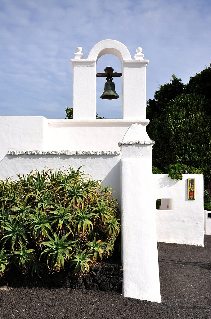 Lanzarote  Spain with white houses that reminded me of Alys Beach Florida