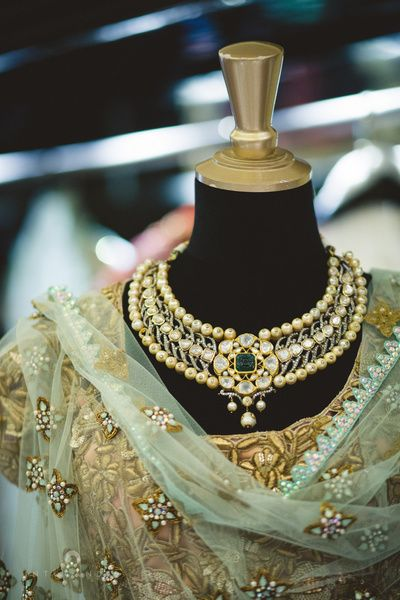 kundan necklace , pearl and kundan necklace , engagement necklace