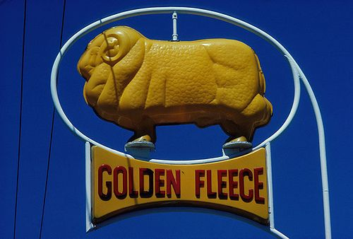 Golden Fleece petrol, Australia, 1978. by Mimmo Cozzolino, via Flickr