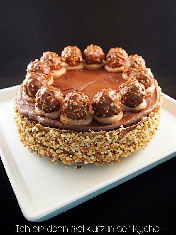 Rocher-Torte - Haselnuss-Kakao-Biskuit ohne Mehl mit zweierlei ...