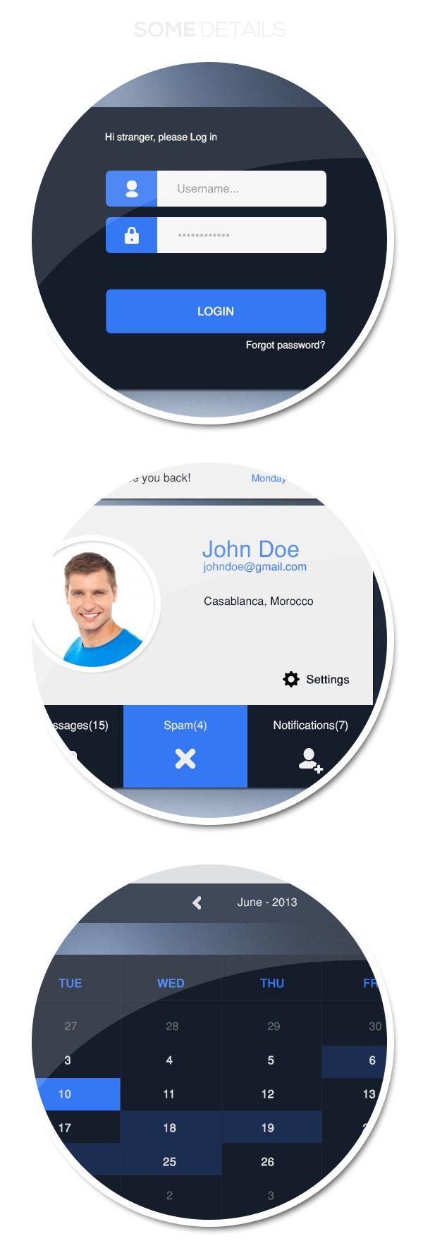 Google Mail - UI Design by Samir Timezguida, via Behance