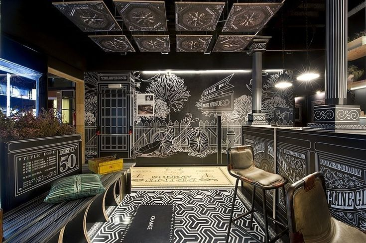 Amazing vintage pavilion designed by Spanish interior designers Egue y Seta for Sabaté lab, a digital printing, large format and  museography reference in Barcelona.