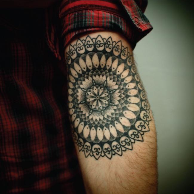Inner Elbow Mandala Tattoo: Mandala Inner Elbow