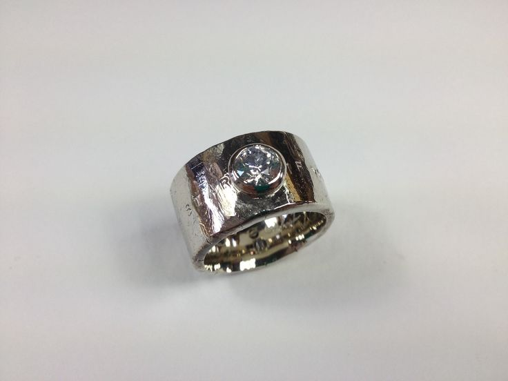 White gold and diamond to make this substantial, elegant statement ring.