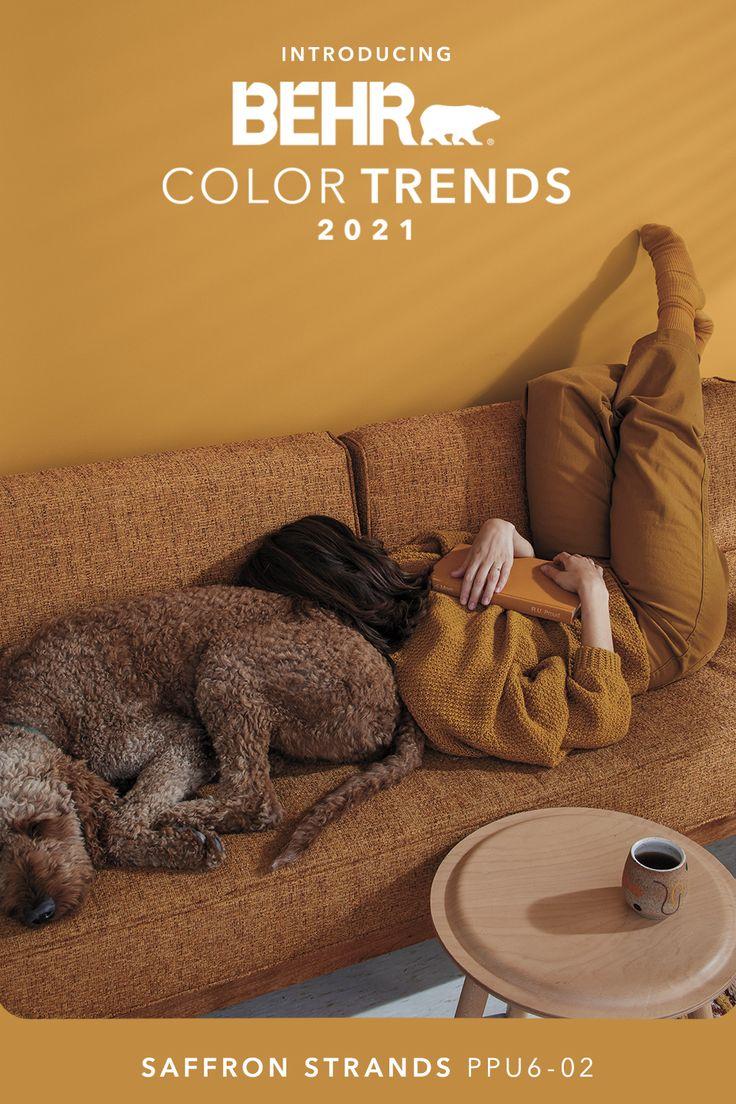 saffron strands ppu6 02 behr color trends 2021 palette on paint color trends 2021 id=86475