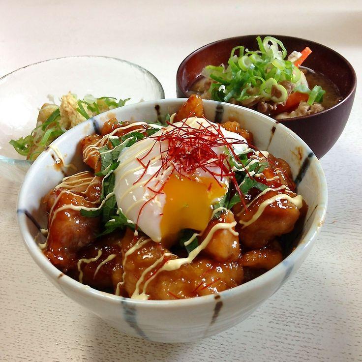 レシピあり!我が家の定番!照り焼きチキン丼温玉のっけ!レシピ有 | れれれママさんのお料理 ペコリ by Ameba - 手作り料理写真と簡単レシピでつながるコミュニティ -