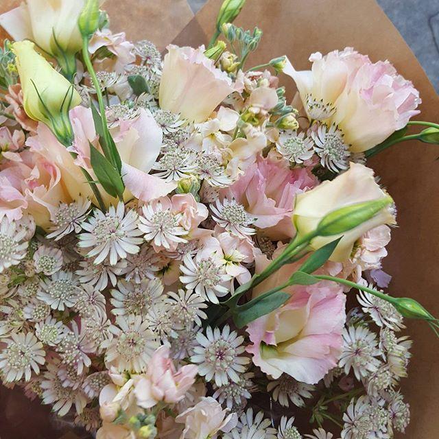 A soft pretty pink bouquet.