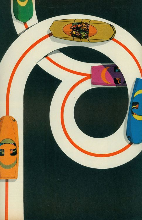 {electric car ad - copyright 1967 - investor owned electric light & power co. - look magazine - illustrator unknown}