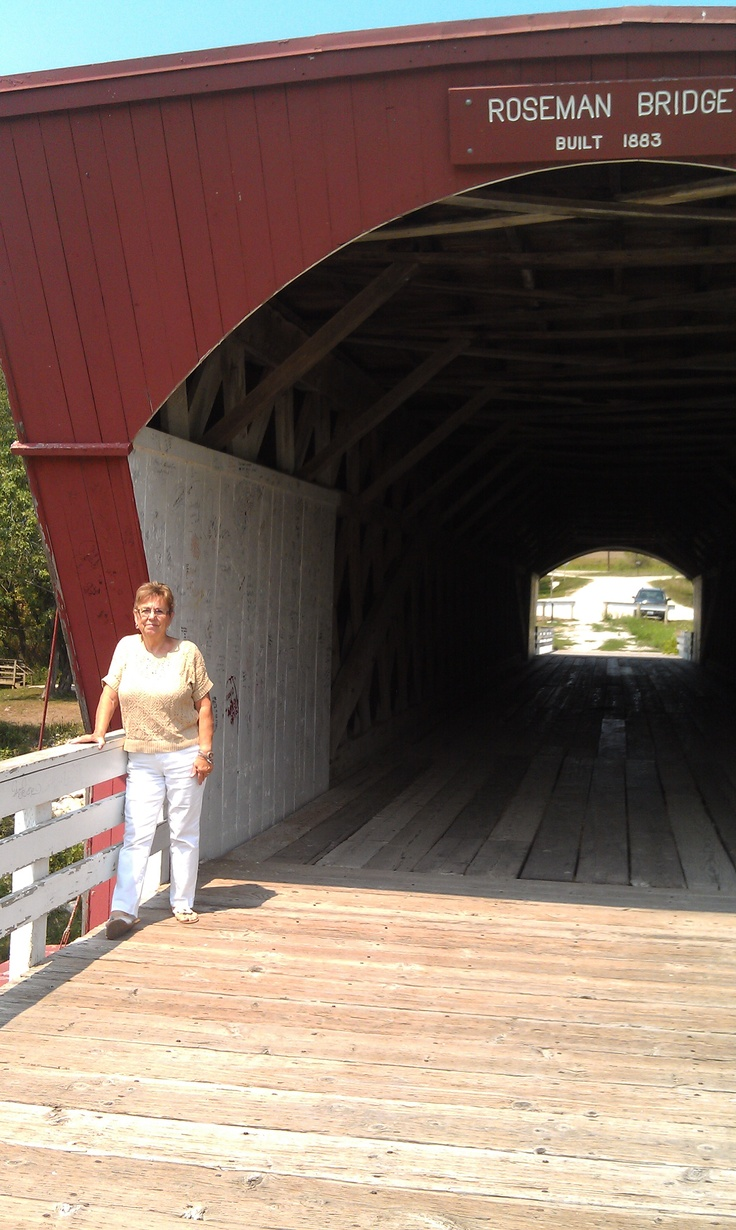 "Me at the bridge that was in the movie ""Bridges of Madison County"""