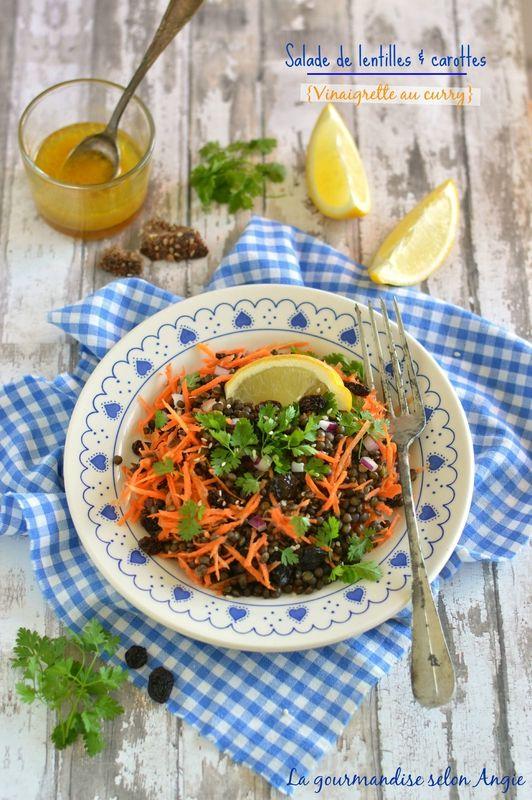 salade lentilles carottes - vinaigrette au curry 1